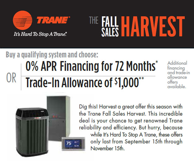 Fall 2015 Trane Special Offer